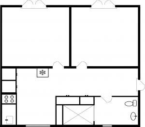 2-værelses - plantegning